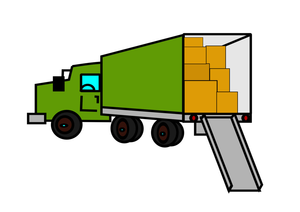Cartoon image of a moving truck