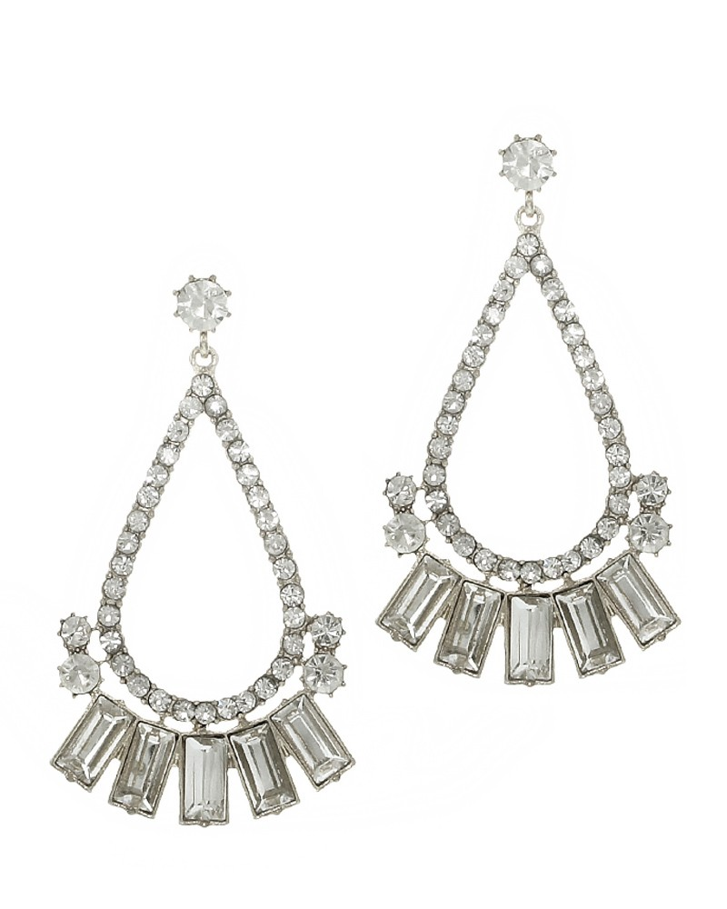 Crystal Teardrop Chandelier earrings, CocoLovesRome.com