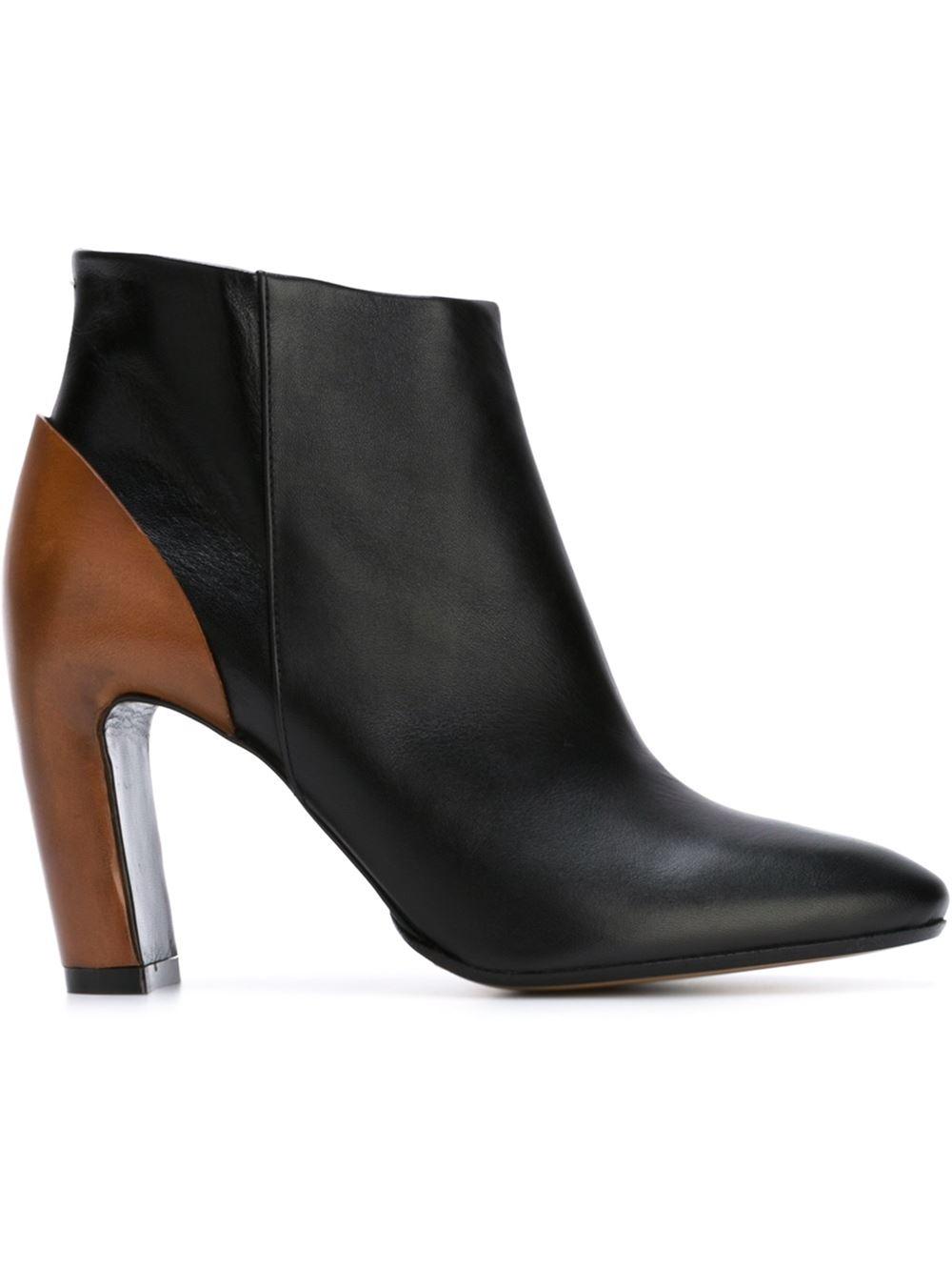 Maison Margiela contrast heel ankle boots, FarFetch.com