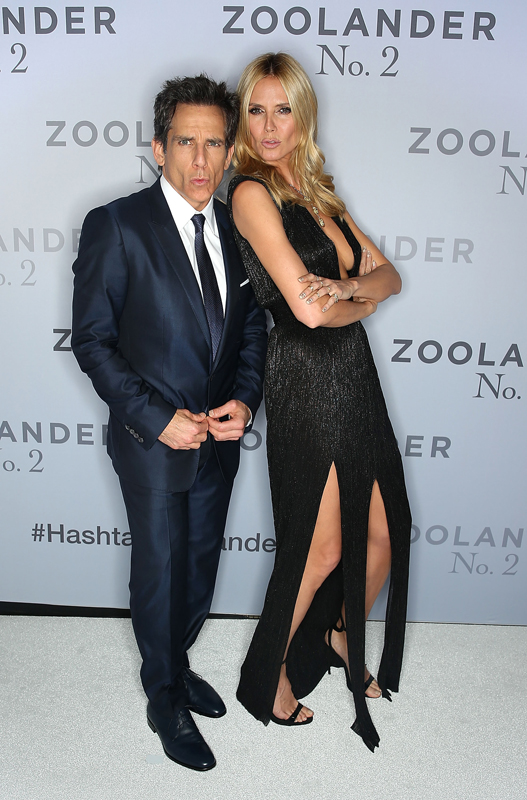 SYDNEY, AUSTRALIA - JANUARY 26: Ben Stiller and Heidi Klum attend the Sydney Fan Screening Event of the Paramount Pictures film 'Zoolander No. 2' at the State Theatre on January 26, 2016 in Sydney, Australia. (Photo by Brendon Thorne/Getty Images for Paramount Pictures)