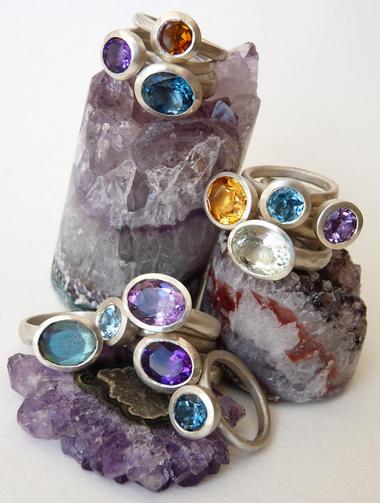 Semi Precious Handmade Gemstone Rings