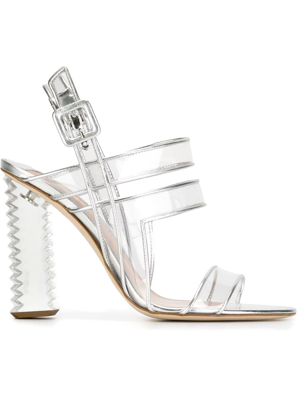 APERLAI Clear strappy sandals, FarFetch.com