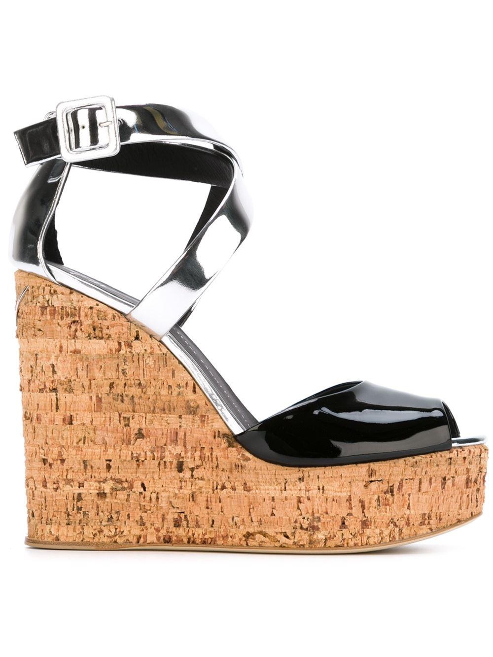 GIUSEPPE ZANOTTI Wedge sandals, FarFetch.com