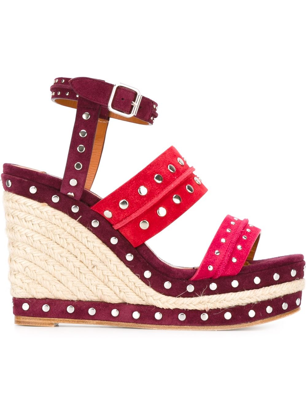 LANVIN Studded wedge sandals, FarFetch.com
