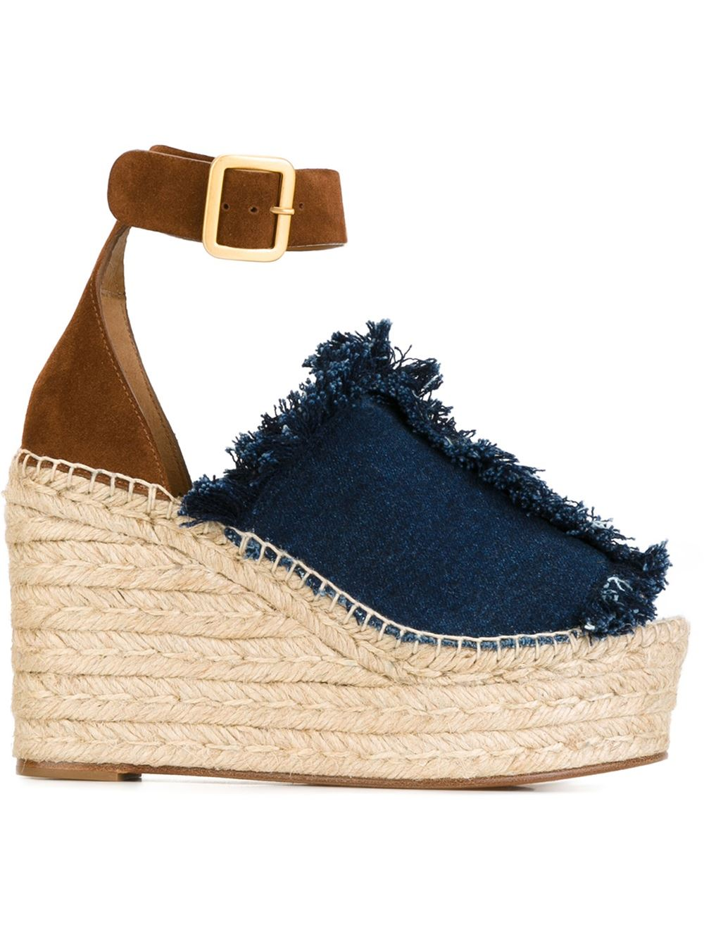 Chloe demin wedges, FarFetch.com