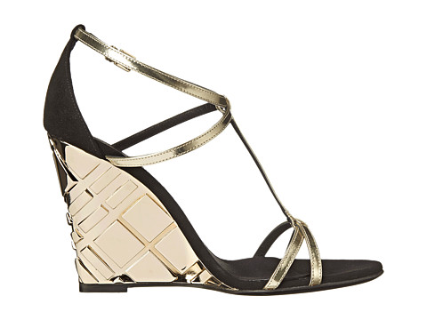 Burberry Hayfield metallic wedges, Couture.Zappos.com