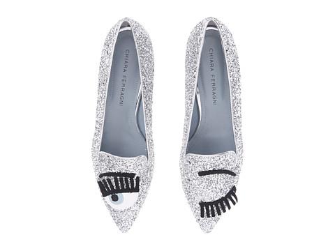 CHIARA FERRAGNI Glitter flats $377.00, Zappos.com