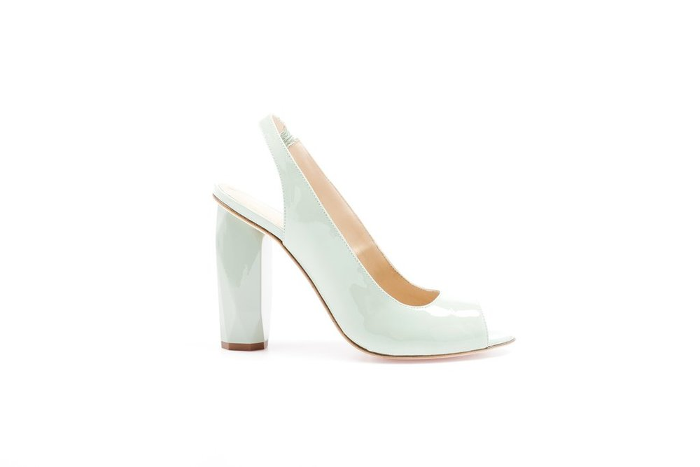 Palm Beach . Peep Toe . Arctic Mint