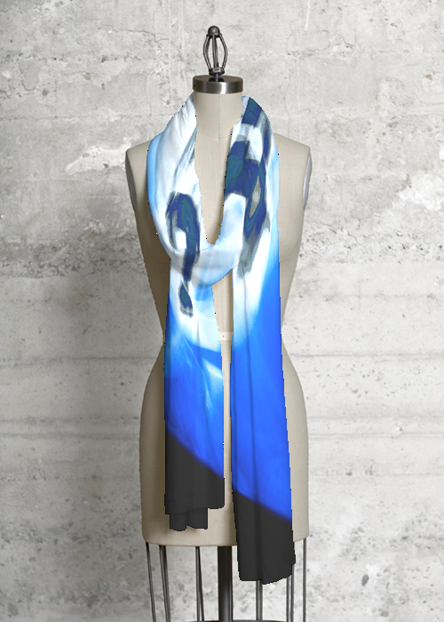 QUESTION OF BLUE  Modal Scarf $40.00, Vida.com