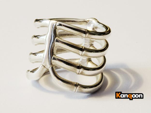 Thorsten 4 Rib ring by Stephan Friedrich $82.26, Shapeways.com