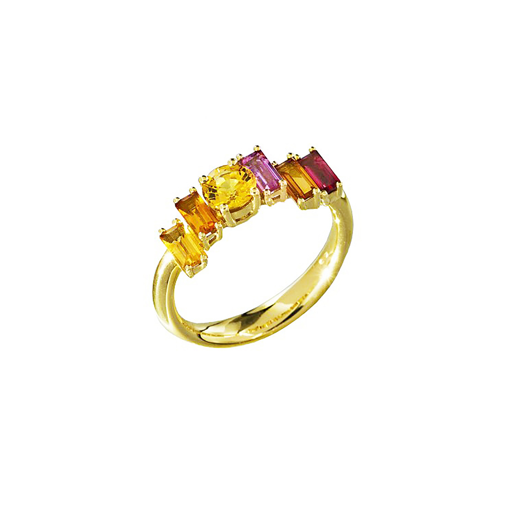 Golden Light Ring Sunset Sunrise Daou Jewellery £3200 Yellow Gold 18k Yellow Sapphire and baguette gemstones.jpg