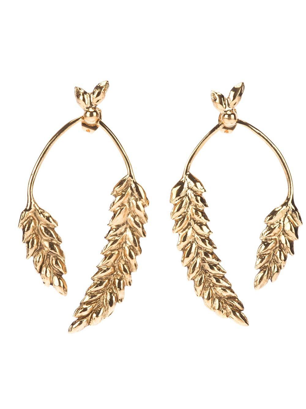 Aurelie Bidermann Wheat earrings | Shop Heaven Has Heels