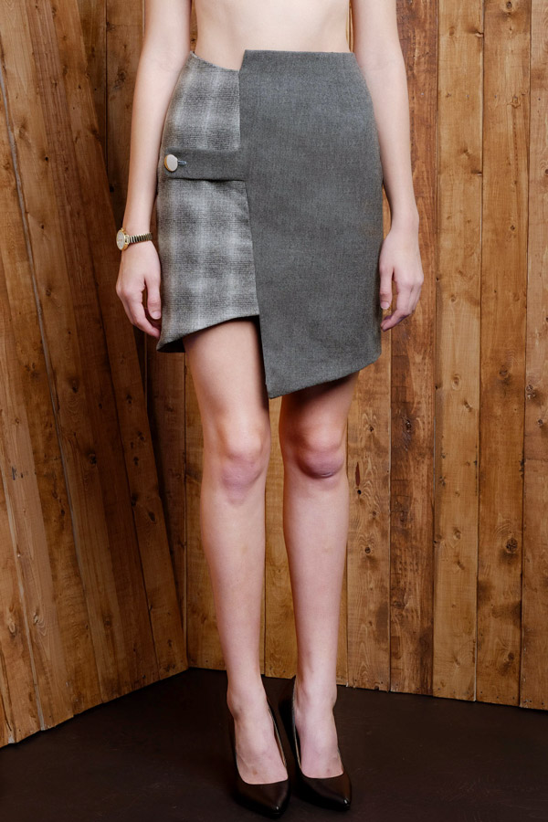 Two-tone Asymmetric Skirt.jpg