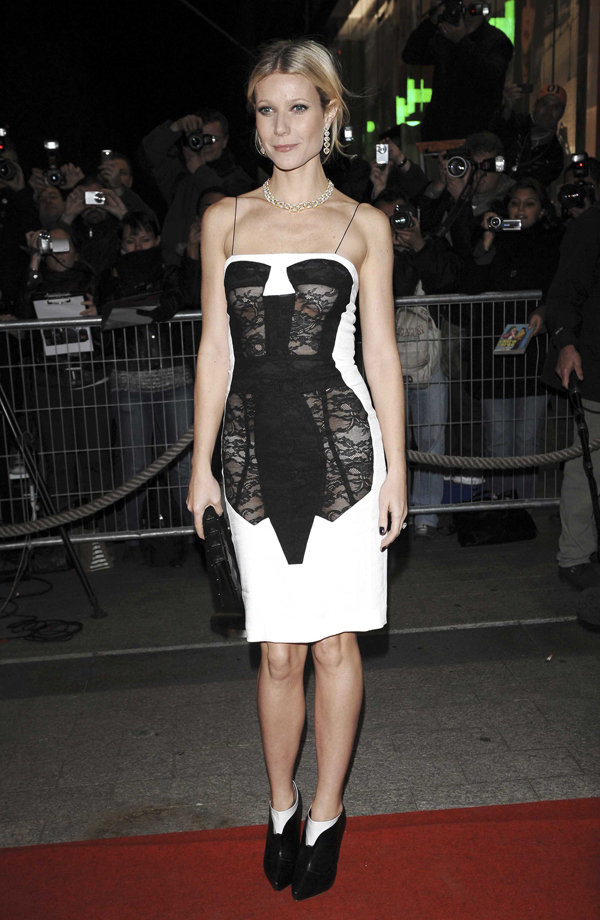 Trompe l'oeil corset dress, designed by Antonio Berardi SS 2009