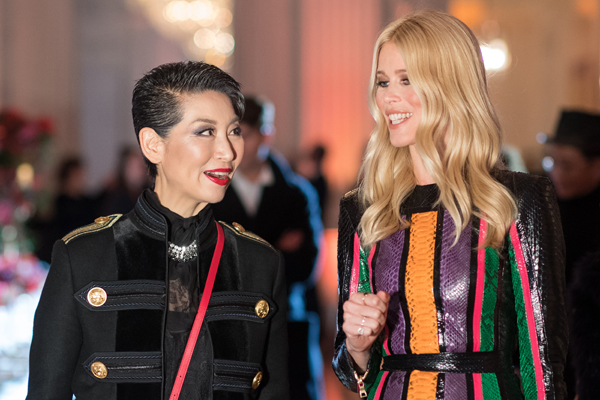 MCM's Chief Visionary Officer Sung-Joo Kim and Claudia Schiffer