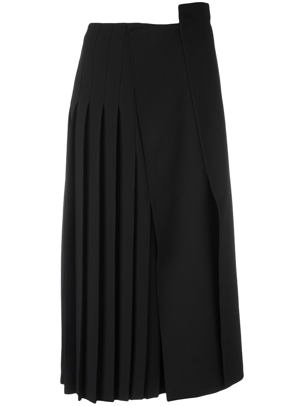 JIL SANDER pleated midi skirt, FarFetch.com