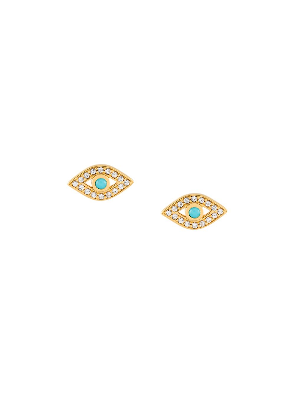 ASTLEY CLARKE   Mini Evil Eye Biography stud earrings, FarFetch.com