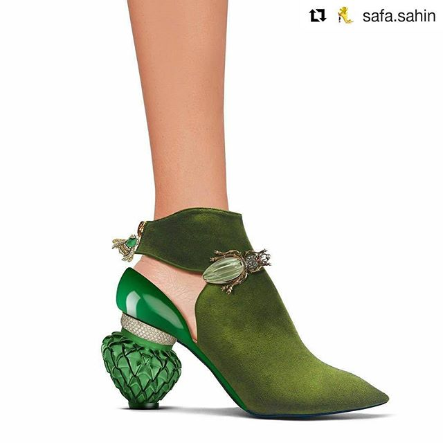 In love with the latest from Safa Sahin #Repost @safa.sahin ・・・ #heels #shoedesign #safasahin #design #fashion #shoes #moda #green #highheels #luxury #pump #stiletto #accessories