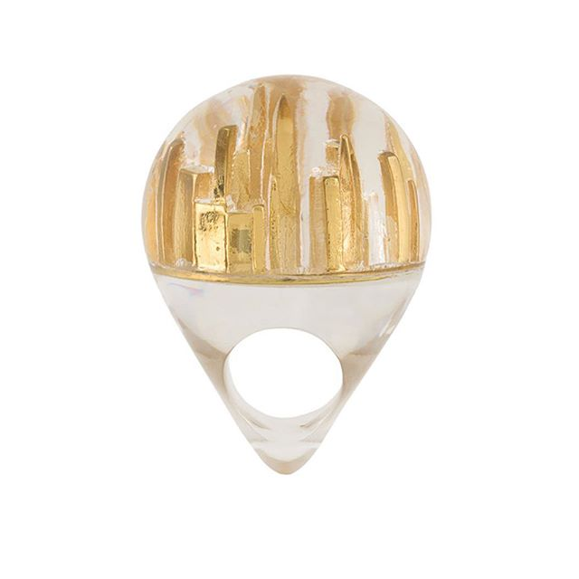 "#Want Home is ""wear"" the heart is: #BigApple ring from Catalina D'Anglade @farfetch"