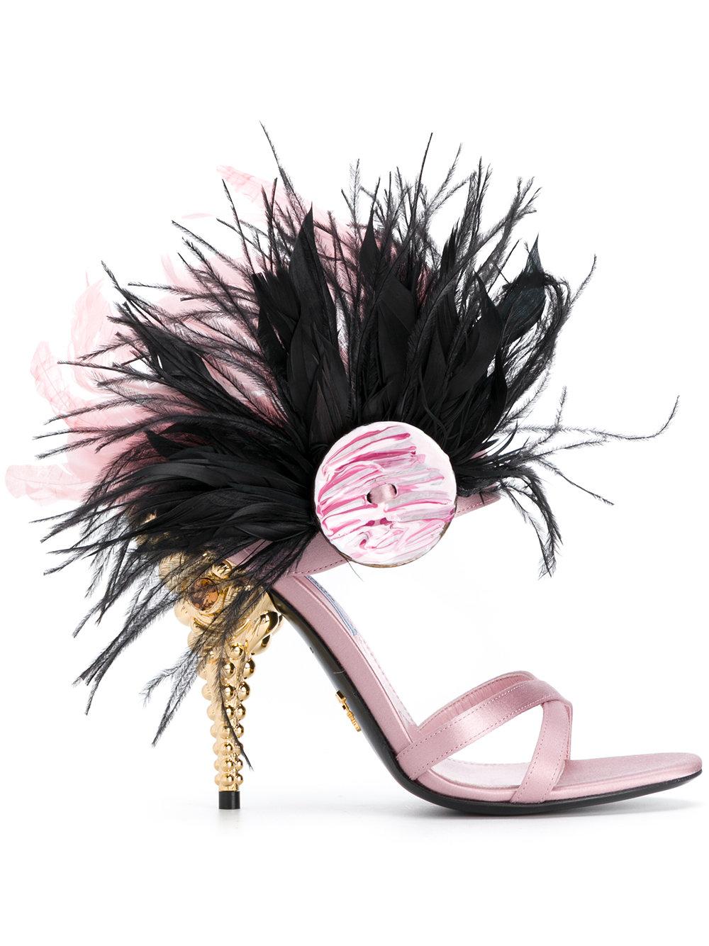 prada heels pink
