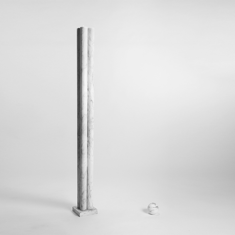 Giovanni n°1 - Floor candle holder - 1300 x 140 x 140mm