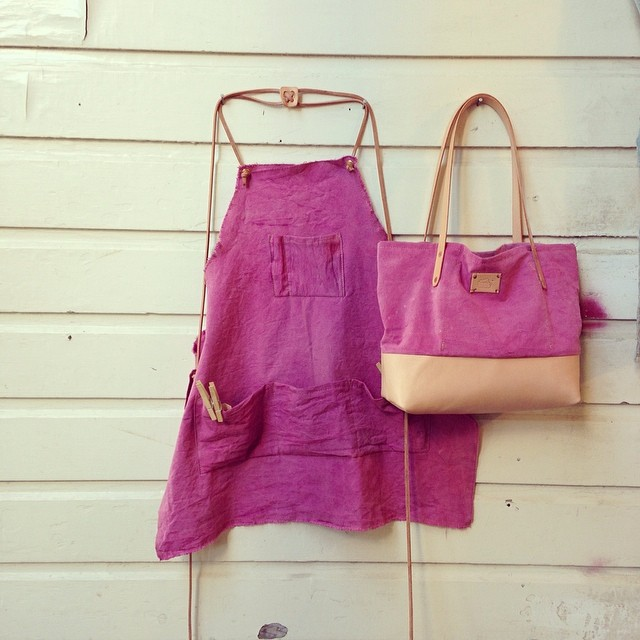Cochineal Tote and Apron