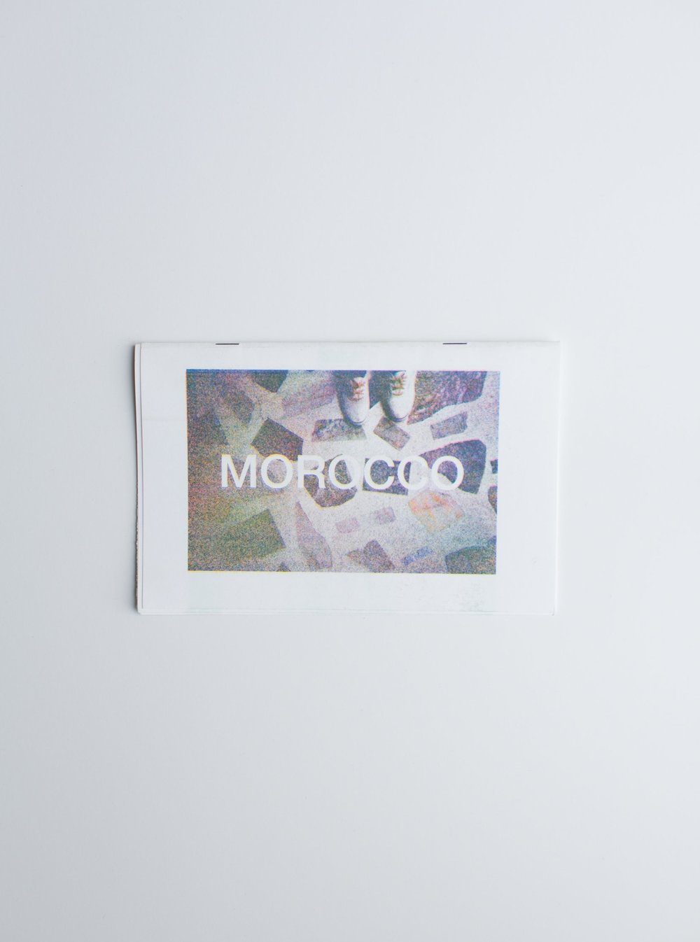 "Morocco Photo Zine Printed on Risograph 8.5"" x 5.5"", 10 pages"