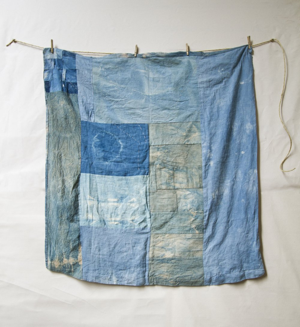 Front Indigo on canvas and linen