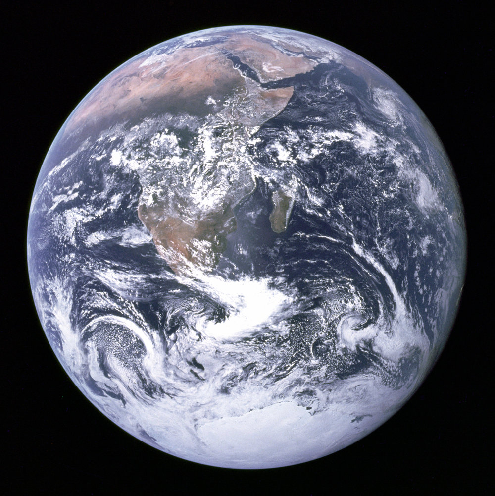 the Earth from space, taken by astronauts aboard Apollo 17 in 1972