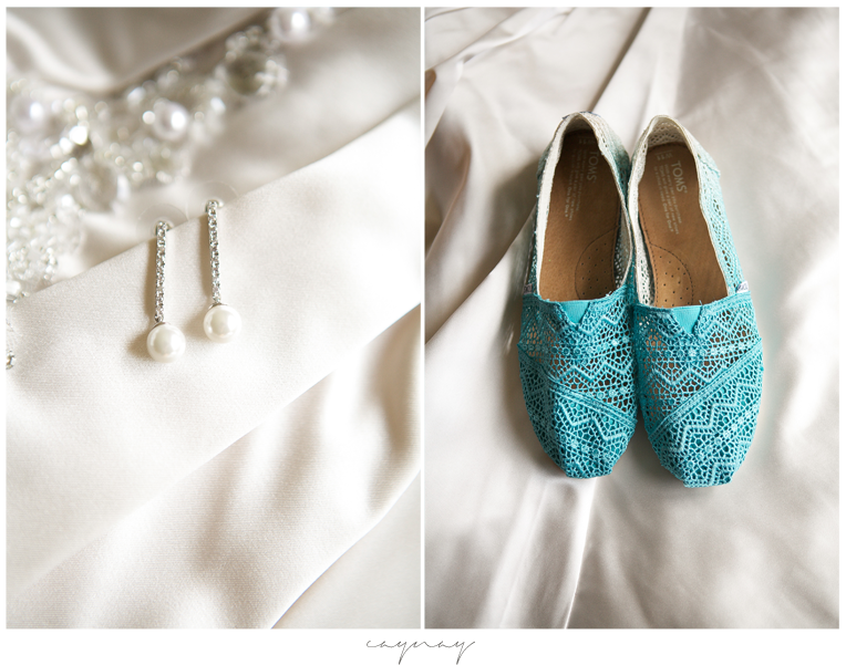 Bridal Details Shoes and Earrings