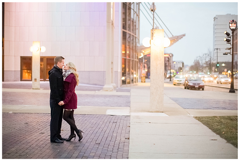 Downtown Milwaukee, Wisconsin Winter Engagement Session