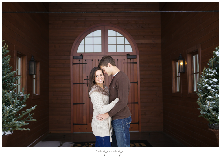 orchard ridge farms winter engagement session. Rockton Illinois. Couple. Natural light. Natural posing. barn wedding. barn engagement session. chandeliers