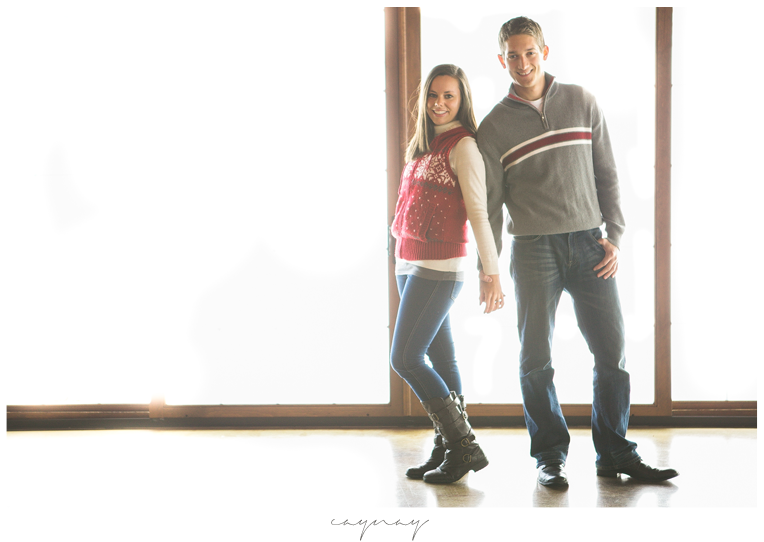 orchard ridge farms winter engagement session. Rockton Illinois. Couple. Natural light. Natural posing