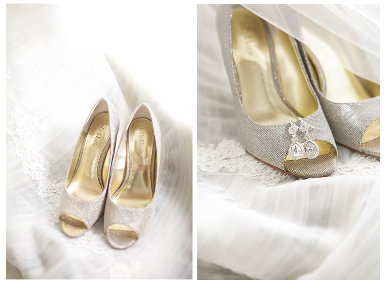 Natural light wedding shoes