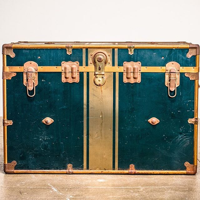 Goodness.  #vintage #homegoods #brass #trunkgame #interiordesign #interiors #storage