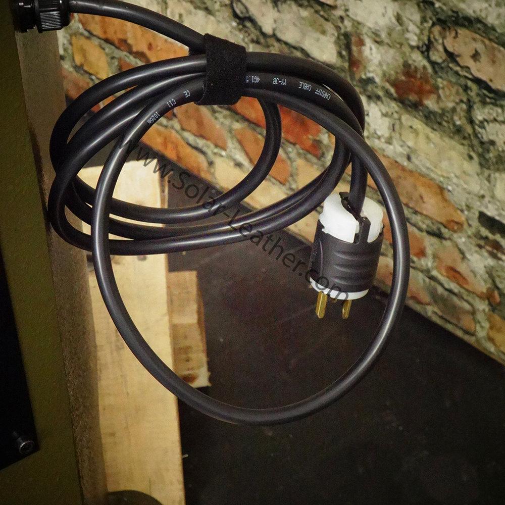 The CB-12 utilizes a NEMA 6-15 plug and requires 15 amp, 220v Single Phase.