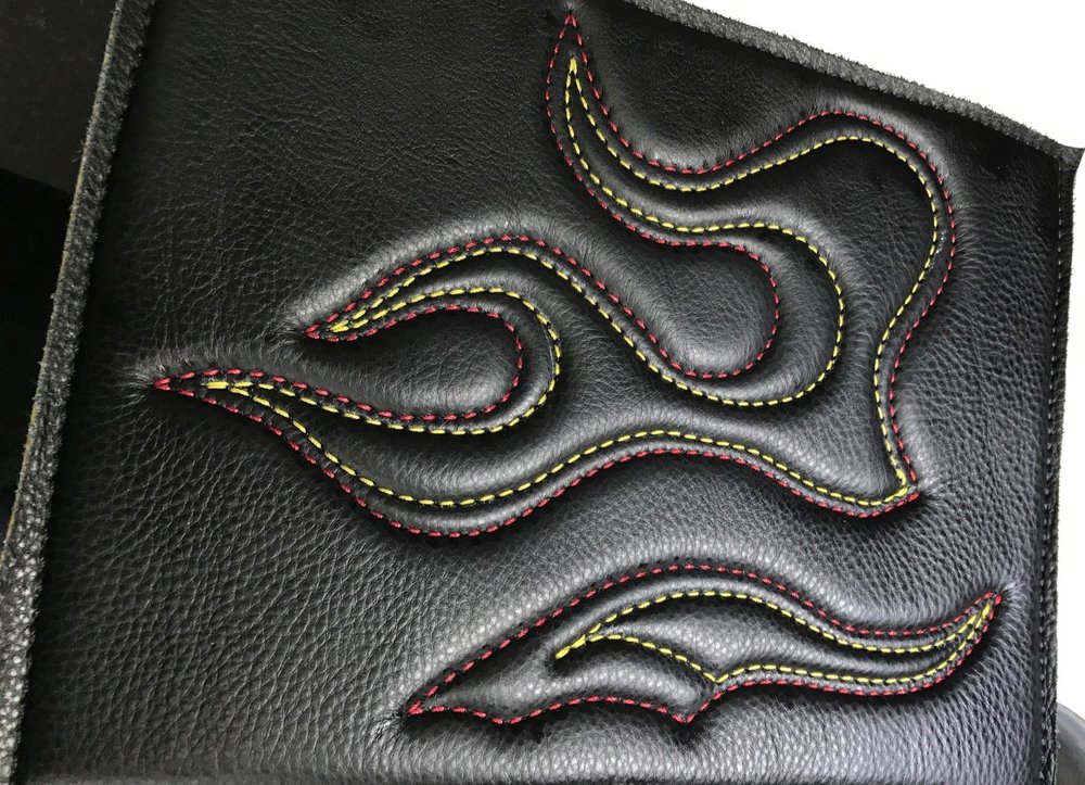 Decorative Stitching on 3/8th thick Leather & Foam
