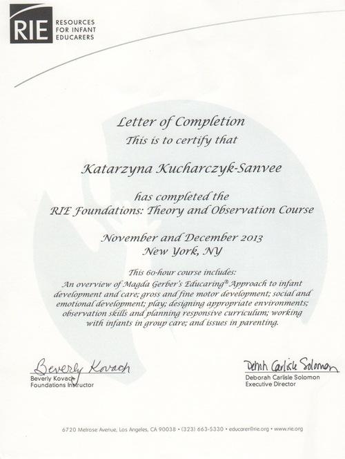 Certificates Education Honor Nature