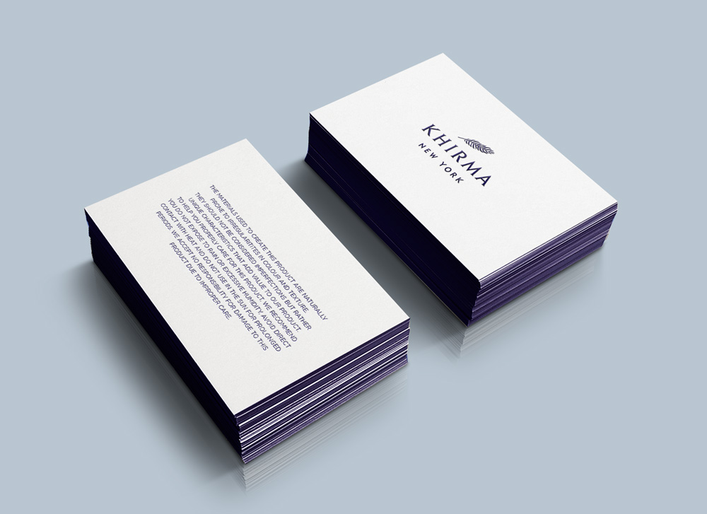 KHIRMA BRAND IDENTITY : PRODUCT CARE CARD