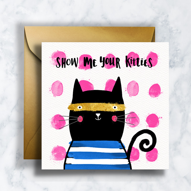 GREETING CARDS   GC-003   KITTIES   LD_ILLUSTRATION