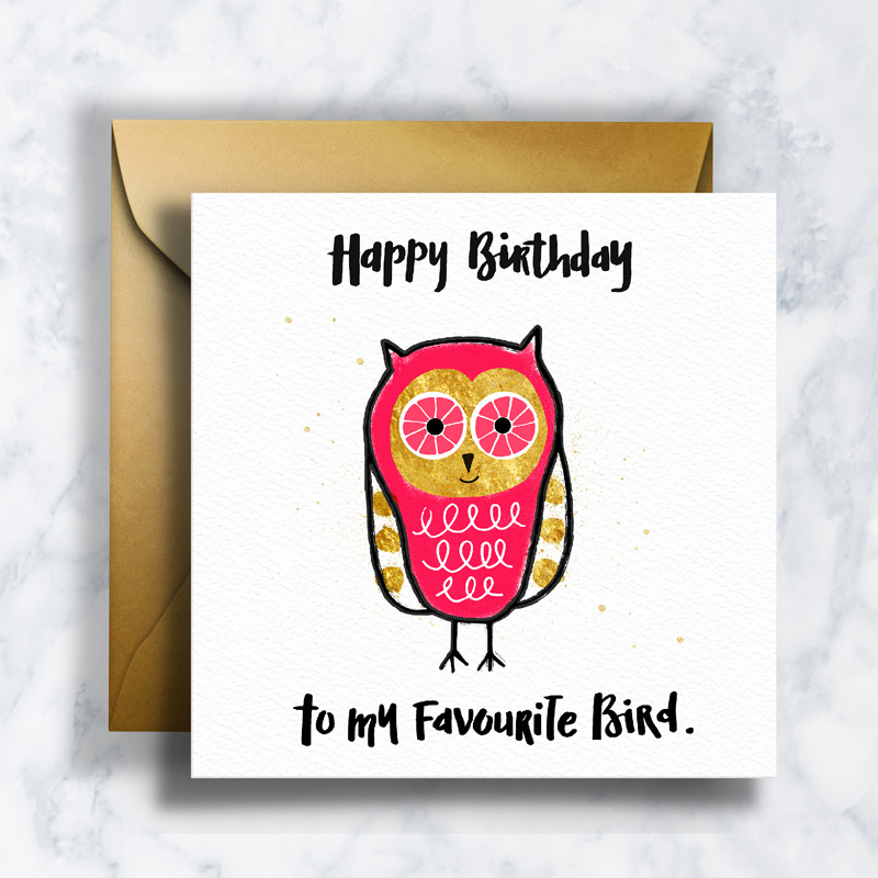 GREETING CARDS     GC-005    FAVOURITE BIRD   LD_ILLUSTRATION