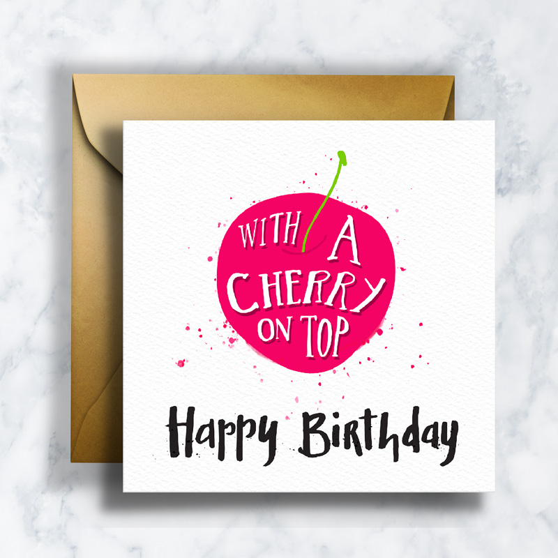 GREETING CARDS      GC-008    BIRTHDAY CHERRY   LD_ILLUSTRATION