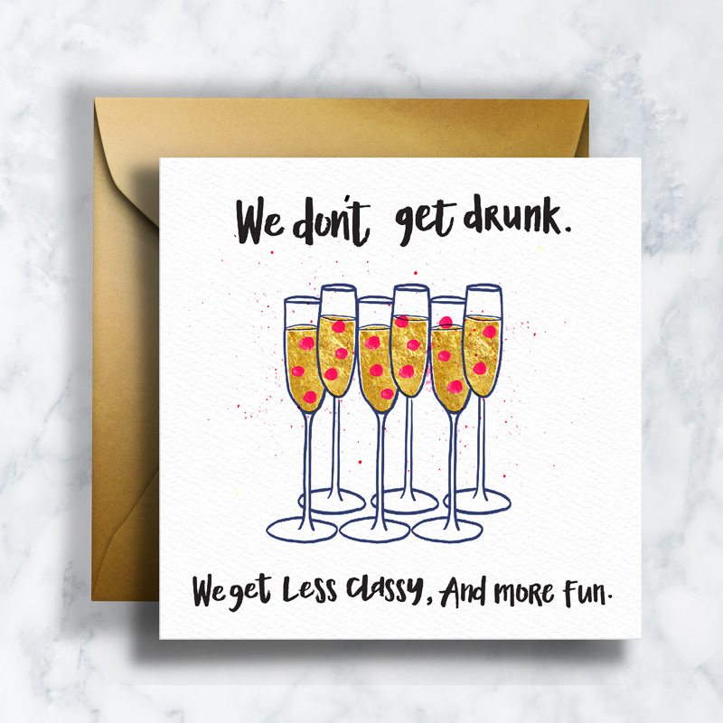 GREETING CARDS    GC-009    CHAMPAGNE   LD_ILLUSTRATION