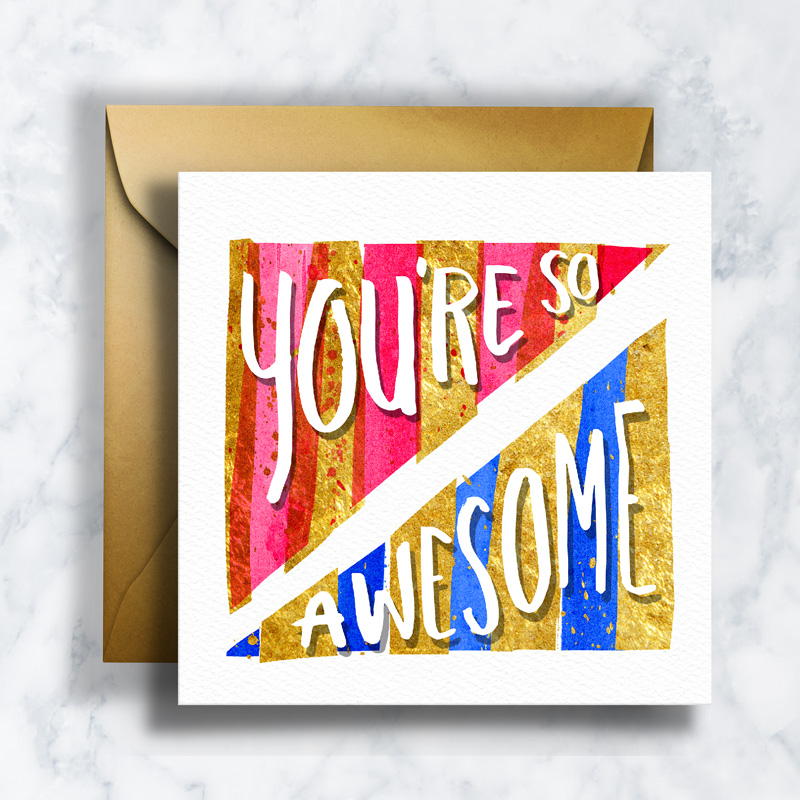 GREETING CARDS     GC-012    AWESOME   LD_ILLUSTRATION