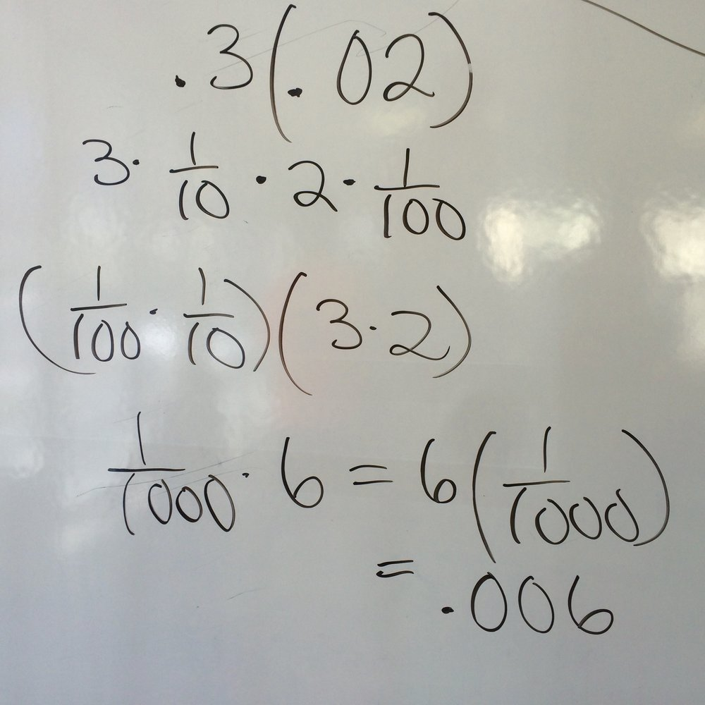 Multiplying Decimals Using Association
