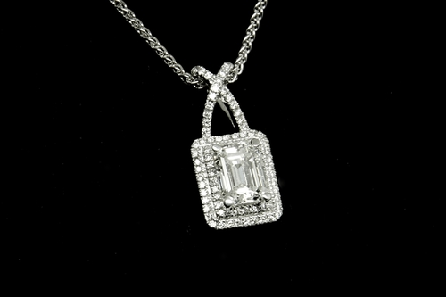 Emerald cut diamond pendant emerald cut diamond pendant aloadofball Choice Image