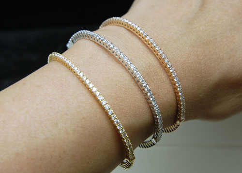 bracelet gold diamond white bangle jewelers hannoush bangles ny