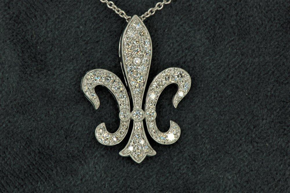 Premium quality fleur de lis pendant diamond brokerage jewelry premium quality fleur de lis pendant aloadofball Choice Image