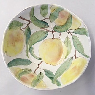 Join us this Saturday at the Point Reyes Farmer's Market. Inverness ceramicist and painter Laurie Curtis will bring a selection of her wonderful work. It feels like summer!