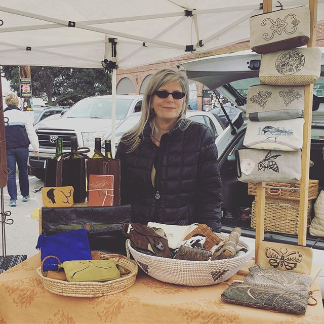 Carol from @2nfromcarol today at the farmer's market.